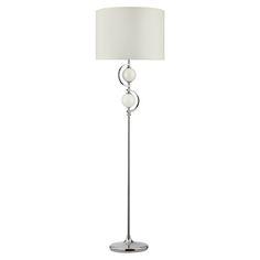 Table&Floor - stojanová lampa - chróm+sklo - biela - 1590mm