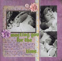 meeting you for the first time - Scrapbook.com