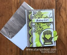 A Stampin' Up! Colorful Seasons Photopolymer Bundle, Colorful Seasons Stamp Set, Seasonal Layers Thinlits Dies, Wood Textures DSP and Lemon-Lime Twist Classic Ink Make for a Wonderful Masculine Card! Kylie Bertucci's International Highlights Top Ten Winners Blog Hop, Stesha Bloodhart, Stampin' Hoot #stampinup #stampinhoot #steshabloodhart #bloghop