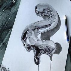 #2 #balloongraff #heliumgraffiti #chrome #fanakapan #pen #pencil on #bristolboard by fanakapan