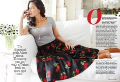 Check out the May issue of Redbook to see Olivia Munn in Stop Staring!'s red tulip skirt! #Spring14