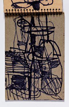 Diebenkorn, Felt-tip marker ink, Inside Back Cover of Sketchbook # 29 [abstraction]