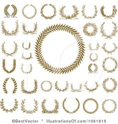 Image detail for -... -Free (RF) Laurel Wreath Clipart Illustration #1061915 by BestVector