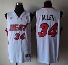 Adidas NBA Miami Heat 34 Ray Allen New Revolution 30 Swingman Home White Jersey