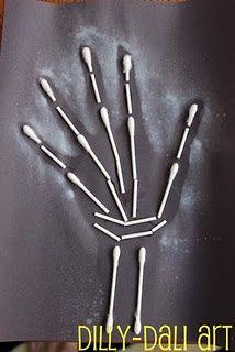 Handprint and Footprint Arts  Crafts: Halloween handprint/footprint art