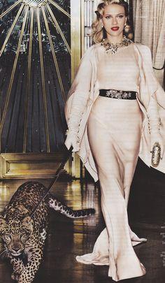 Cat Noise.  Scarlett Jo in Vogue, May 2012.