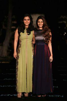 Lakme fashion week SS 2014,  beautiful Kajol and her sister - Manish Malhotra
