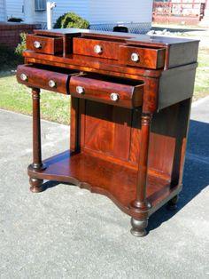 American-Empire-Mahgoany-Dressing-Table-Vanity-circa1840