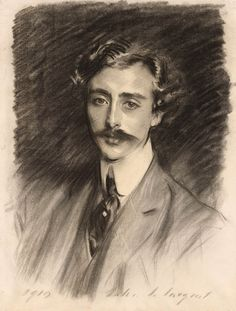 Portrait of Ernest Schelling, John Singer Sargent Charcoal on paper, roughly x 47 cm); in the collection of the Morgan Library and Museum, NY Portrait Sketches, Pencil Portrait, Portrait Art, Sargent Art, Beaux Arts Paris, Charcoal Portraits, Male Portraits, Fine Art Drawing, Artist Biography