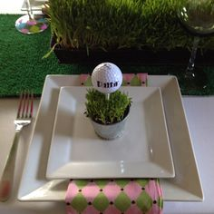 Golf Party Theme. Maybe thrown while the men are out playing golf?