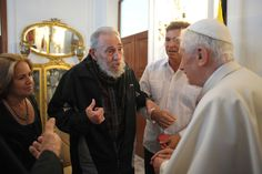 Pope Benedict XVI meets former Cuban leader Fidel Castro in Havana, March 28, 2012. (Osservatore Romano/Reuters) #