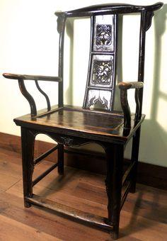 Antique High Back Arm Chairs (5855) (Pair) Cypress/Elm Wood Circa 1800-1849 | Antique Chinese High Back Chairs/Arm Chairs | Pinterest | Child chair ... & Antique High Back Arm Chairs (5855) (Pair) Cypress/Elm Wood Circa ...