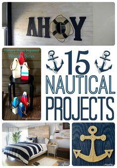 DIY Nautical Decor Roundup - A Prudent Life