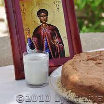 A delicious spiced cake baked as an offering to Saint Fanourios, (fah-NOO-ree-os) the Greek Orthodox patron saint of lost items. Flavored with cinnamon and ground clove, this tasty cake is delicious with coffee or tea. Greek Sweets, Greek Desserts, Greek Recipes, Fish Recipes, Vegan Recipes, Greek Cookies, Eat Greek, Cake Ingredients, Gourmet