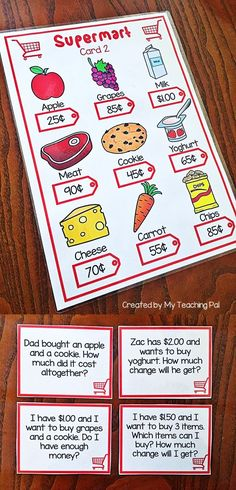 Money Word Problem Task Cards focusing on cents. Great for Math Centers.