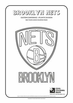 Cool Coloring Pages - NBA Teams Logos / Brooklyn Nets logo / Coloring page with…
