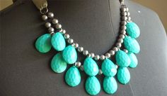 Coffee and Cardigans: DIY Anthro Stormy Seas Necklace