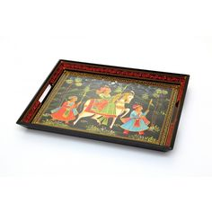 Name : Serving Tray Ethnic Price : Rs 999 Buy Now at : http://www.indikala.com/containers/serving-tray-ethnic-red-border.html #luxury #ethnic #homedecor