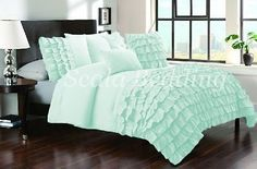 New Waterfall Half Ruffle Duvet Cover Set All Size &Color 1000TC Egyptian cotton