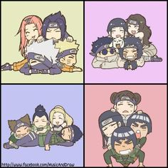 Teams Kakashi, Kurenai, Asuma, and Guy