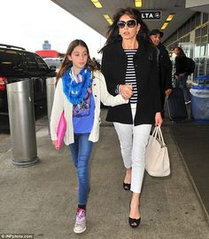 Running late? Catherine Zeta-Jones seemed to be in a massive hurry as she rushed to La Gua...