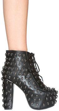 http://www.shopstyle.com: Jeffrey Campbell Lita Skull Shoe in Black/Pewter