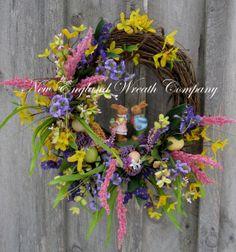 Bunny Love Wreath by NewEnglandWreath