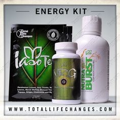 So far, my customer's favorite of the 3 kits seems to be the #ENERGY kit!  Get yours: www.totallifechanges.com/abfitness  #fitness #loseweight #tea #organic #healthy