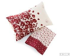 red floral pillows