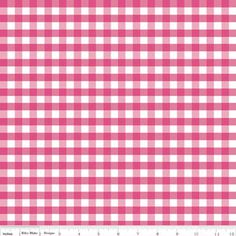 Riley Blake Designs  Medium Hot Pink Gingham  by PKFabulousFabric, $8.50