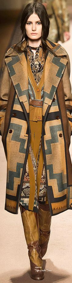 #MFW Etro Fall 2015 - featuring Fall/ Winter 2015 Color Trend #6: Oak Buff