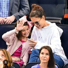 Suri And her beautiful mother at NHL New Jersey Devils vs New York Rangers in NYC on October 14, 2017