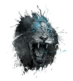 omg, amazing lion art!