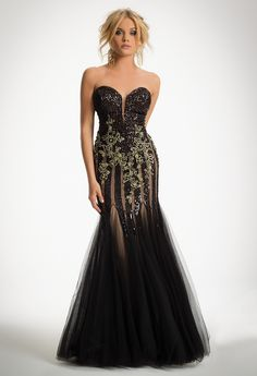 Strapless Allover Sequin Dress from Camille La Vie and Group USA