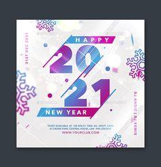 2021 New Year Flyer Design PSD