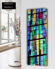 Abstract-4 design radiatoren Design verwarming met multicolor 12 verschillende abstracte oppervlakte. 897 tot 3370 watt