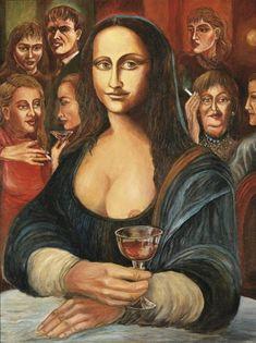 Mona Lisa s červeným vínem [Karel Gott] (Gioconda / Mona Lisa) Renaissance Artists, Italian Renaissance, Karel Gott, La Madone, Mona Lisa Parody, Mona Lisa Smile, Francis I, Beautiful Fantasy Art, Guinness World