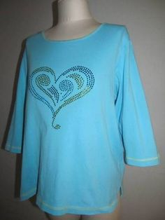 Large Turquoise Quacker Factory with a rhinestone heart = cute!