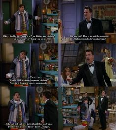 Friends - Wearing Everything You Own (friends,tv show,joey,joey chandler,chandler) LOVE THIS PART!
