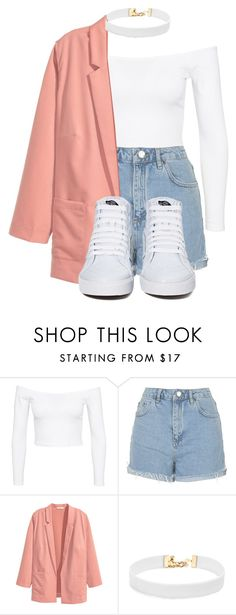 """Untitled #441"" by xd-army ❤ liked on Polyvore featuring Jeane Blush, Topshop, H&M, Vanessa Mooney and Vans"