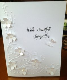 Handmade Card Sympathy With heartfelt by HandMadeCardsBySheri, $5.00