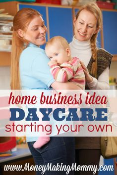 Creating your own income via a home business is what many are doing these days.  Daycare can be a very lucrative home business - but there are steps to take when starting one. Find out more at MoneyMakingMommy.com.
