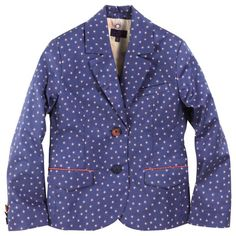 Paul Smith Junior Blue printed suit jacket