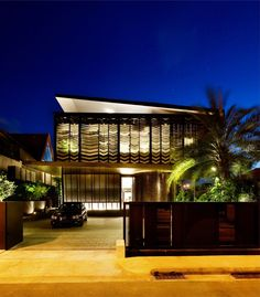 Contemporary Origami House in Singapore by Formwerkz Architects