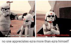 No on appreciates Ezra more than Ezra himself. #swfunny