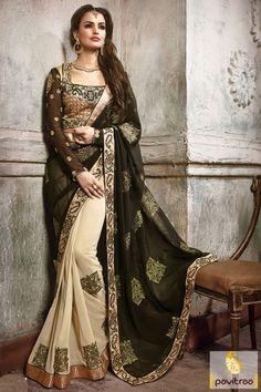 #Black #Beige 60-Gram Dhupion Best Party Wear Saree #saree, #designersaree, #sareeonline, #partywearsaree, #indiansaree, #sareecollection, #sareesonlineshopping, #buysareeonline, #fashionsaree, #latestsaree,   #newsarees, #sareewithblouse, #weddingsareeonline, #trendysaree, #beautifulsaree, #bridalsaree More Product : http://www.pavitraa.in/store/embroidery-saree/?utm_source=mk&utm_medium=pinterestpost&utm_campaign=4Jan Any Query :  Call / WhatsApp : +91-76982-34040