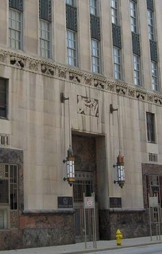 Cincinnati Bell Telephone Building...beautiful Art Deco carvings all over the building's facade....