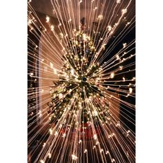 What Happens When You Take A Long-Exposure Picture Of A Christmas Tree... ❤ liked on Polyvore featuring backgrounds