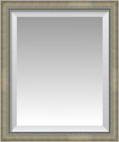 Classic Antique Silver with Ornate Inner Edge Beveled Wall Mirror | Custom Framed Mirrors | FulcrumGallery.com