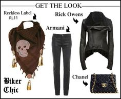 Biker chic inspiration with the fab RL11 scarf!